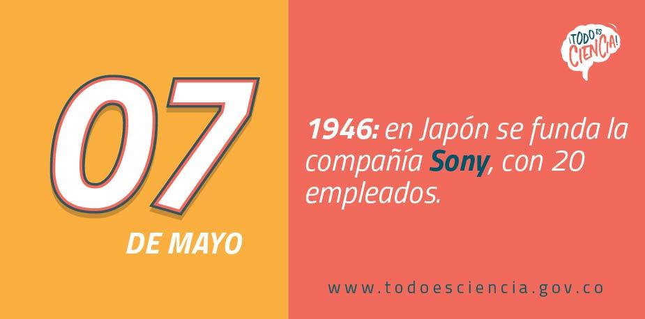 07 de Mayo de 1946:  se funda la compañía Sony