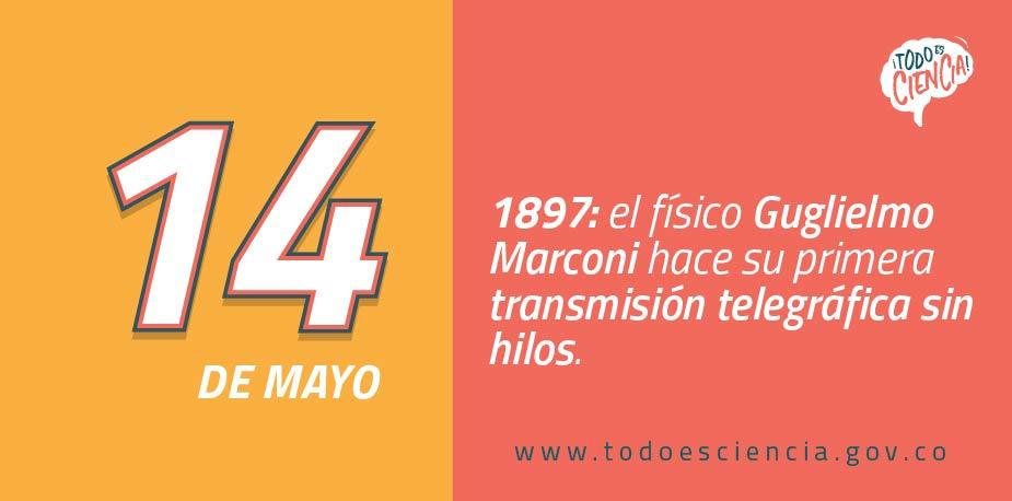 14 de Mayo de 1897: primera transmisión telegráfica sin hilos.