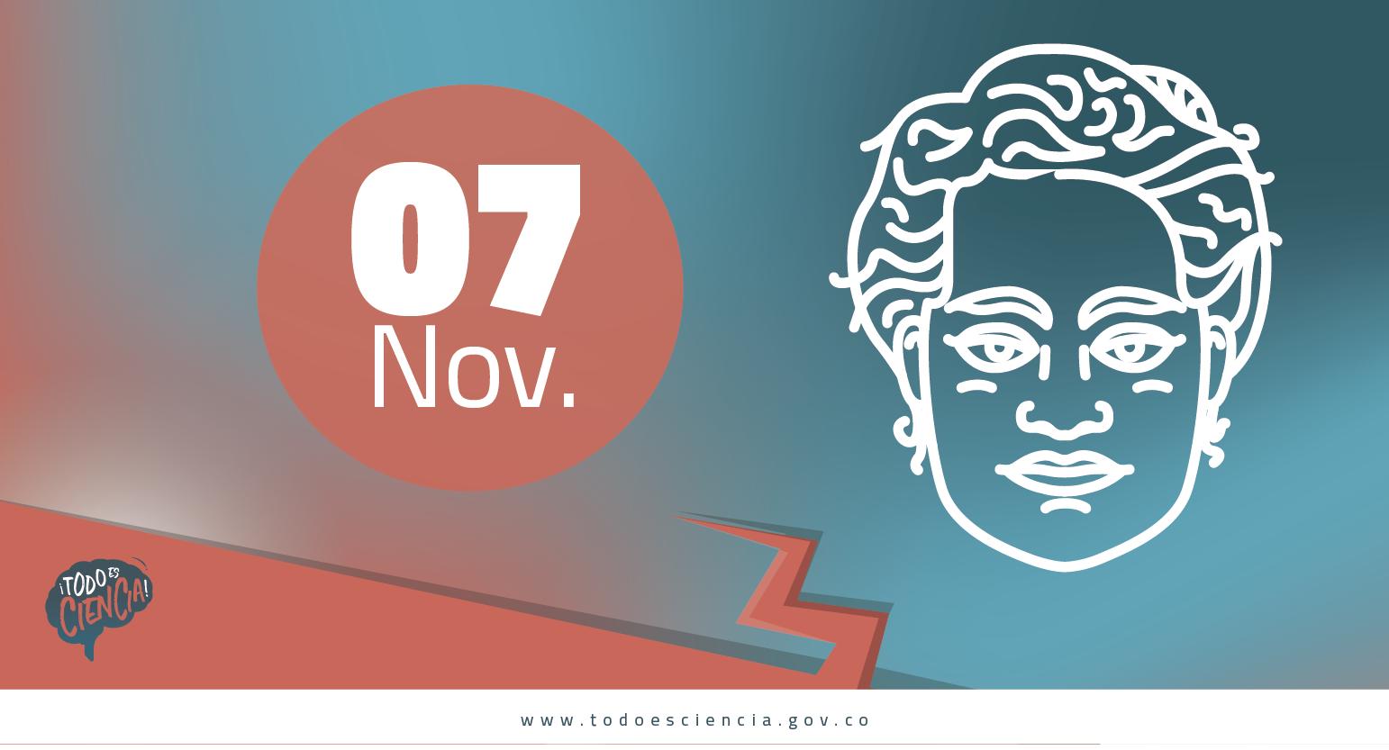 Efemérides: 07 de noviembre  Nace Marie Curie