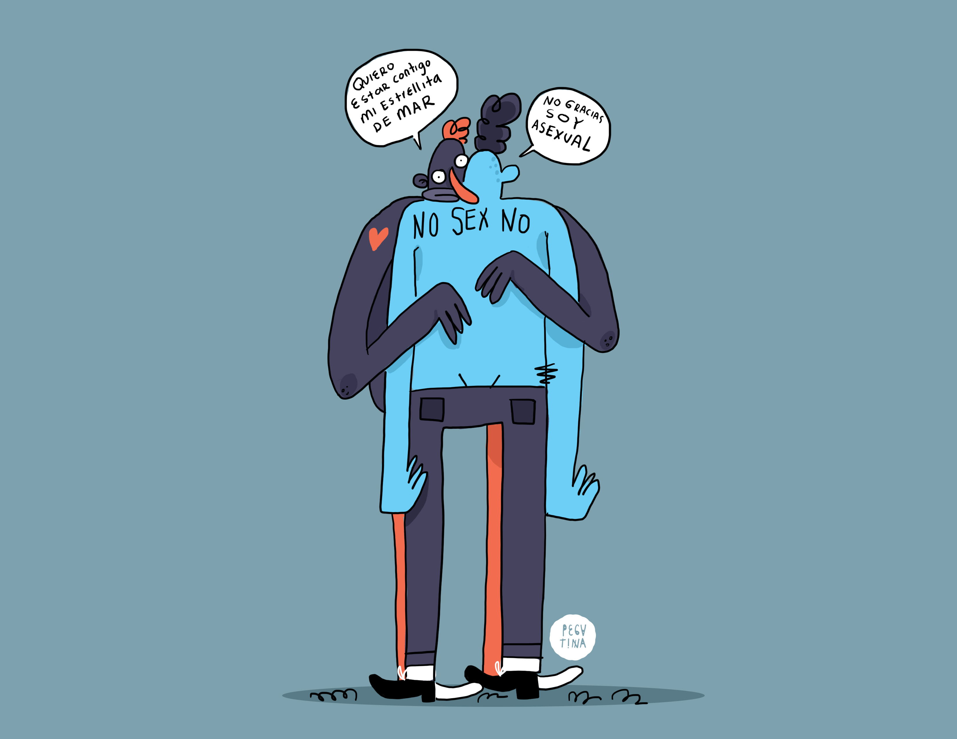 Qué es la asexualidad, texto de Andrea Melo, ilustraciones de Pegatina Criolla