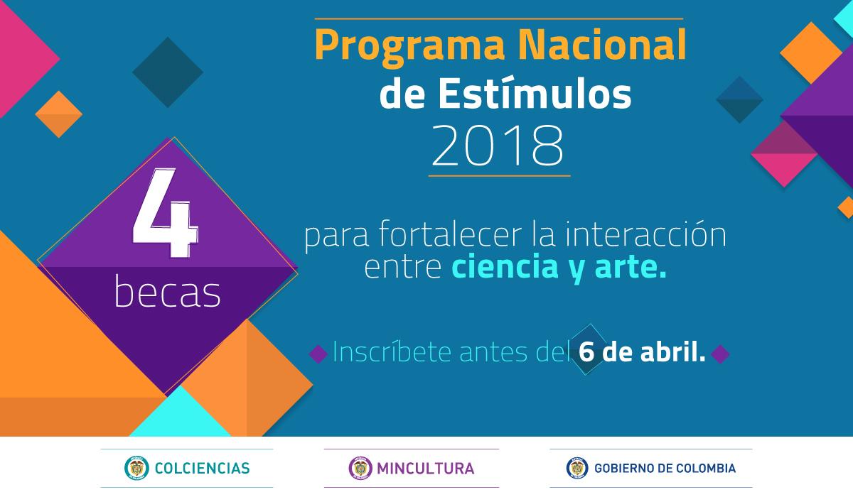 programa nacional de estimulos ministerio de cultura colombia ciencia arte cine audiovisual teatro danza