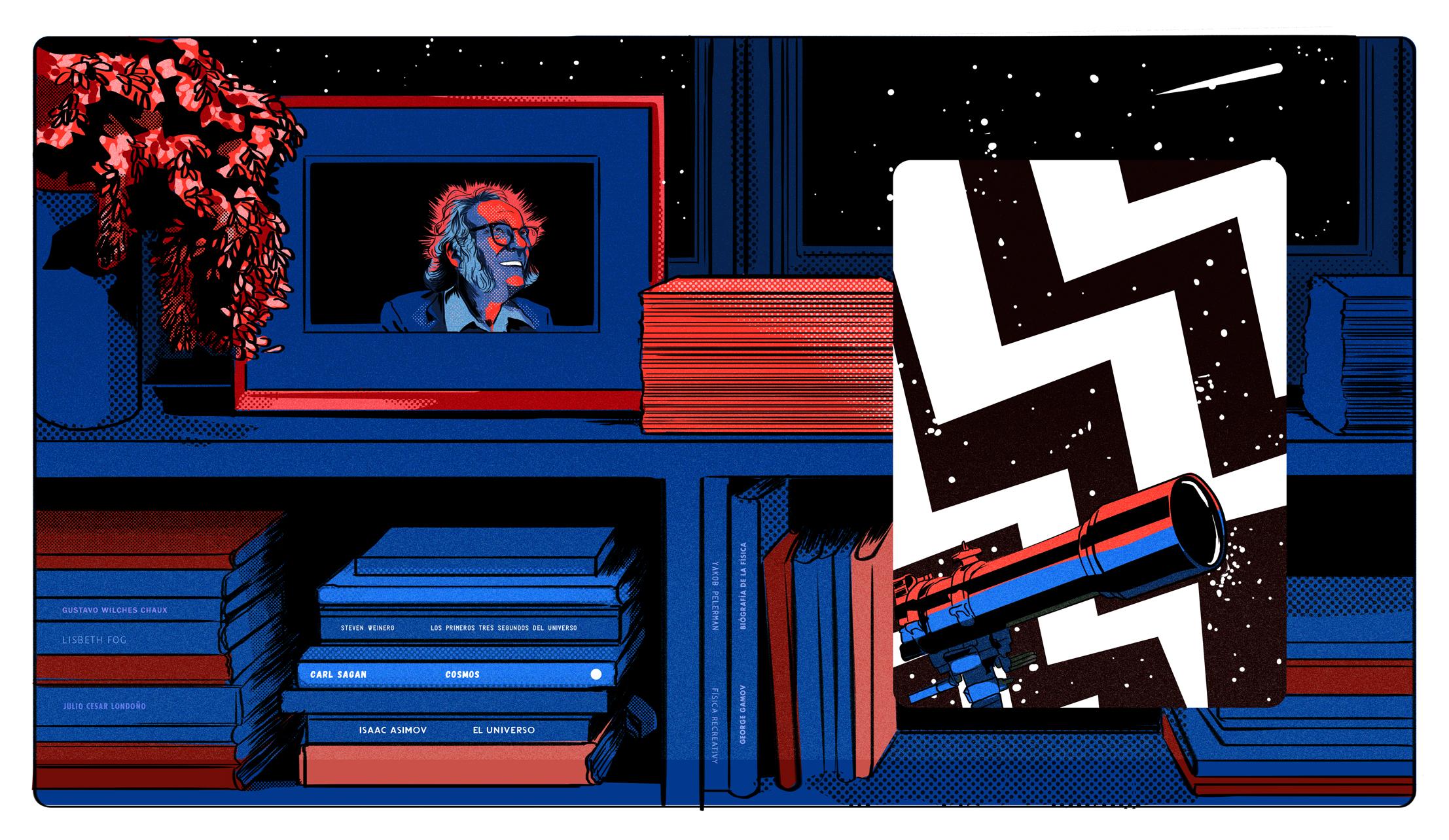 Libros de ciencia, una columna de Eduardo Arias ilustrada por Mariana Rojas