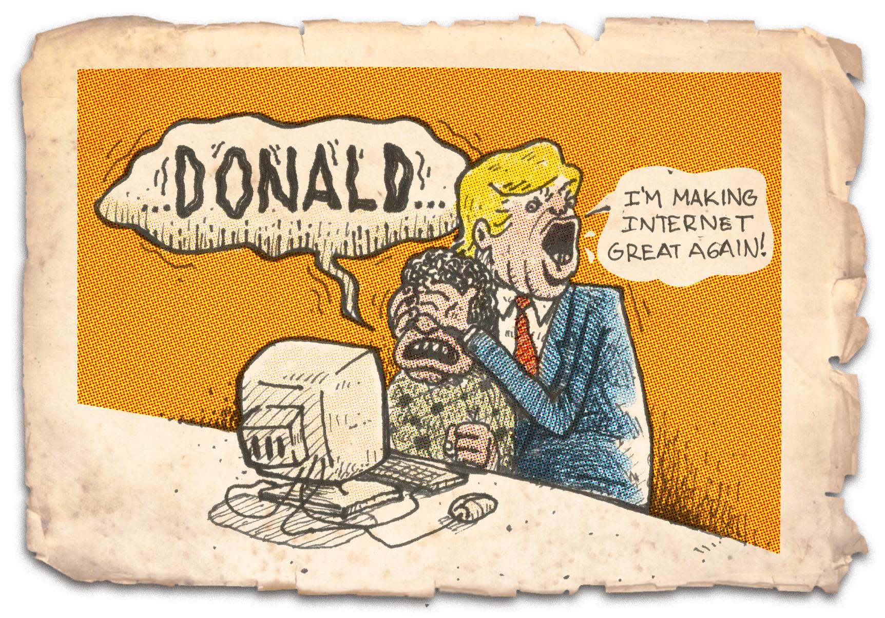 Net neutrality, columna de Ana María Mesa ilustrada por Saga Uno