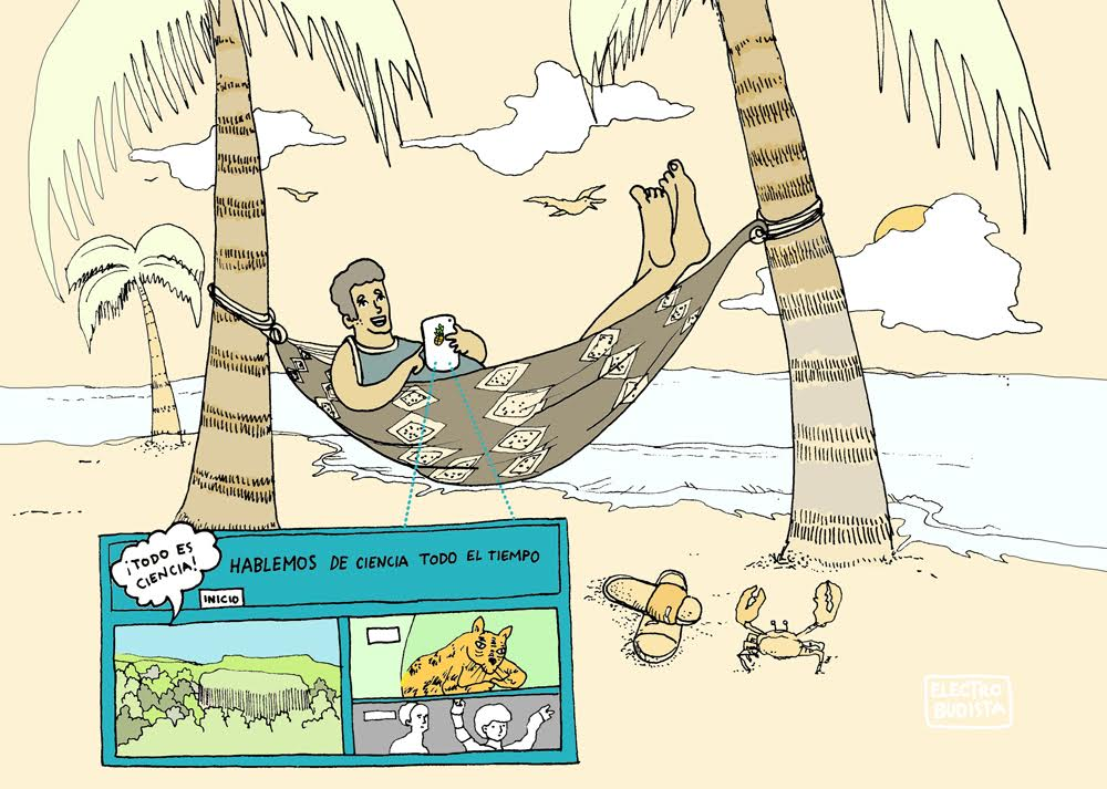 ¿Qué aportan los científicos? Columna de Mario Víctor Vázquez ilustrada por Electrobudista