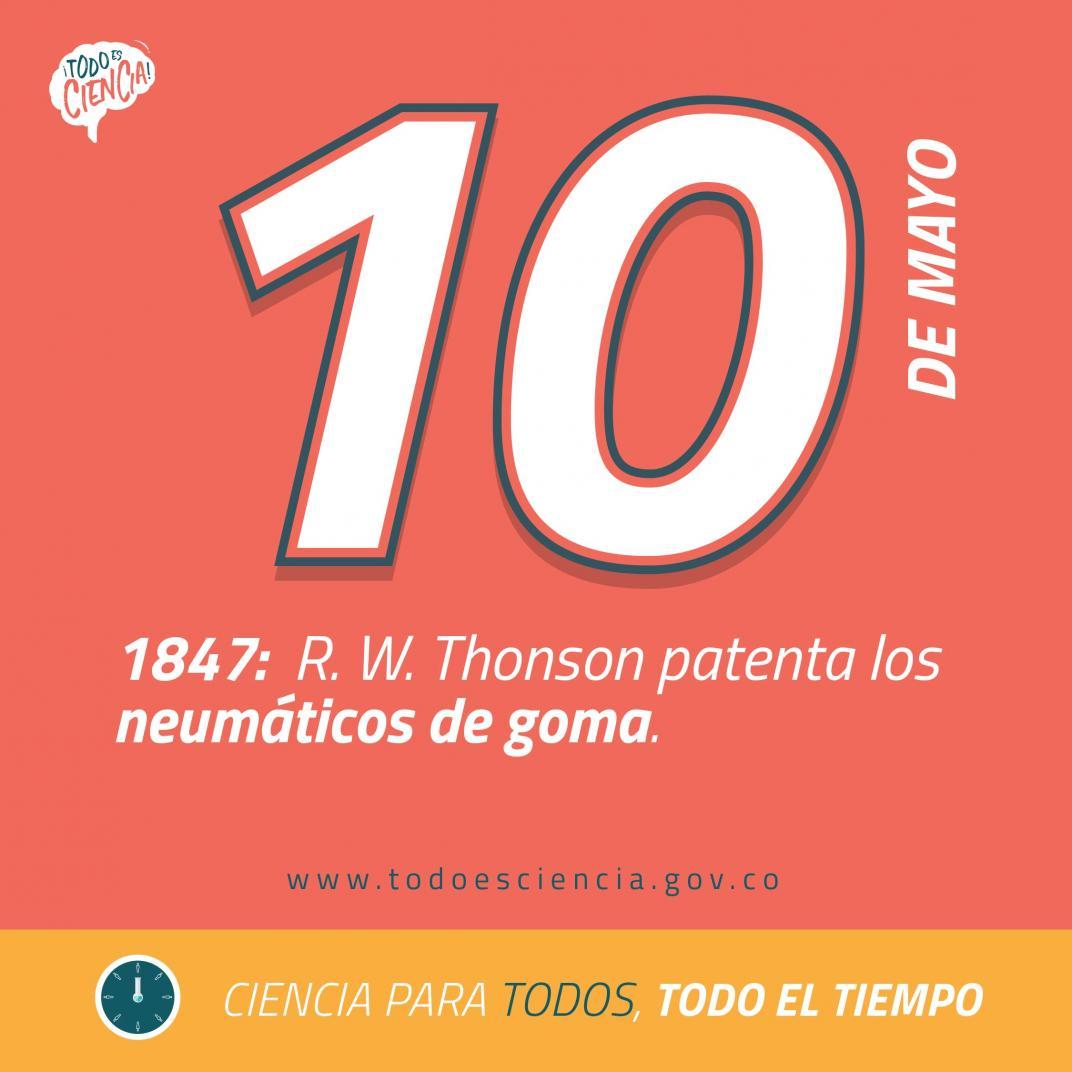 10 de mayo de 1847: se patentan los neumáticos de goma