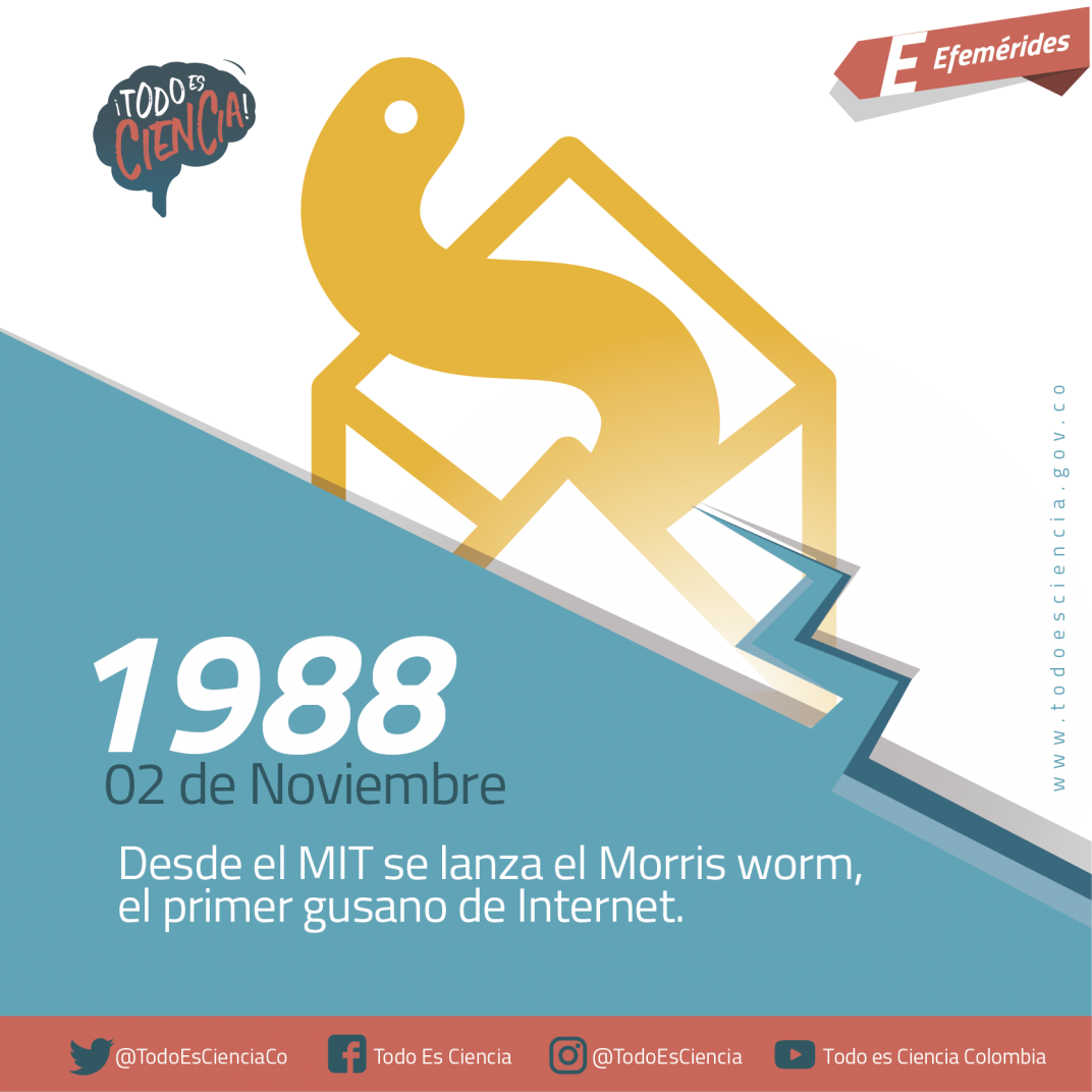 Efemerides: 02 de noviembre de 1988 primer gusano de Internet