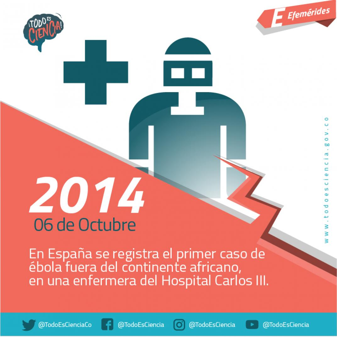 Primer caso de Ébola se registra el 6 de octubre de 2014