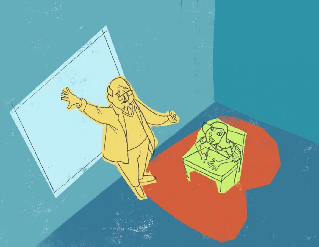 Educación y neurociencia. Ilustración de Carlo Guillot
