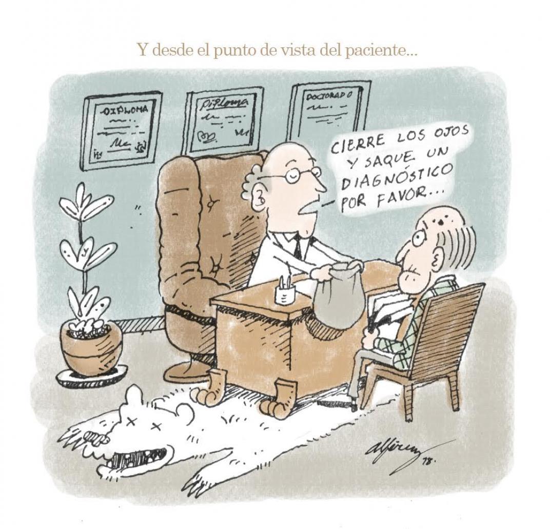 An María Mesa explica las particularidades del criterio médico, con ilustraciones de Saga Uno
