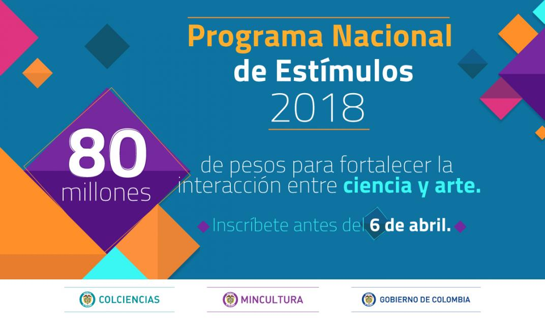 convocatoria programa nacional de estimulos ministerio de cultura colombia colciencias ciencia arte cine audiovisual teatro danza