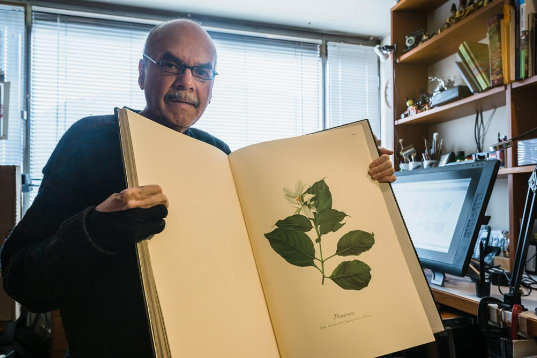 Benjamín Cárdenas, ilustrador colombiano que combina el arte y la ciencia