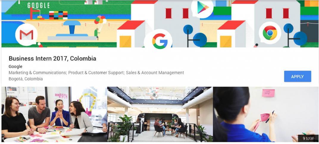 Pasantías Google Colombia 2017
