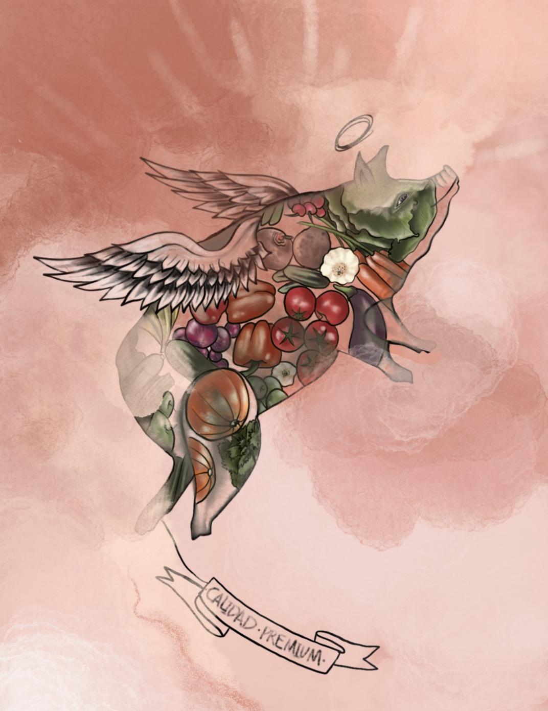 Alimentos orgánicos, una columna de Mario Víctor Vázquez ilustrada por Lina Arias